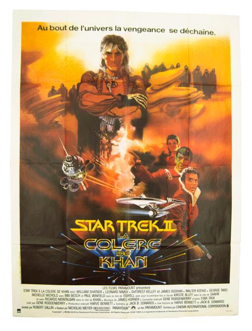 French Star Trek Poster The Wrath of Khan