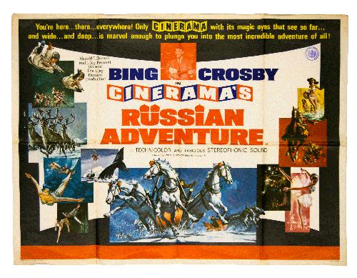 Russian Adventure Bing Crosby Cinerama original filmposter