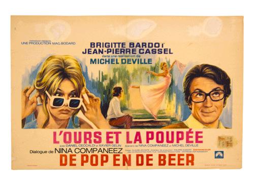 L'ours et poupée vintage poster Brigitte Bardot