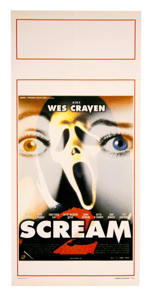 Wes Craven original film poster Scream 2