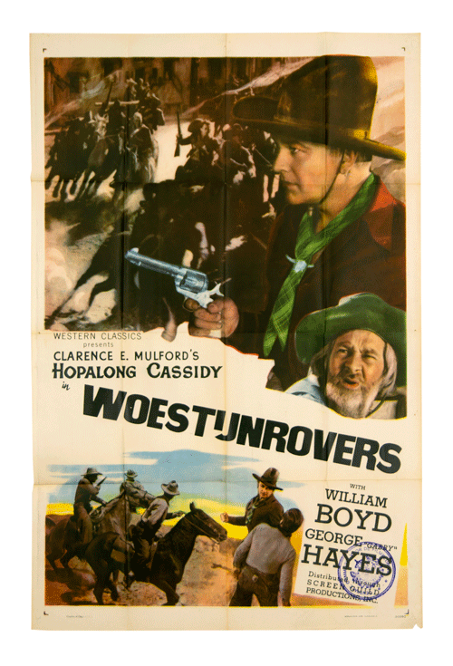 William Boyd poster Hopalong Cassidy