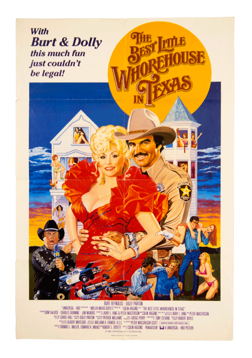 The best little whorehouse in Texas orignal film poster Dolly Parton