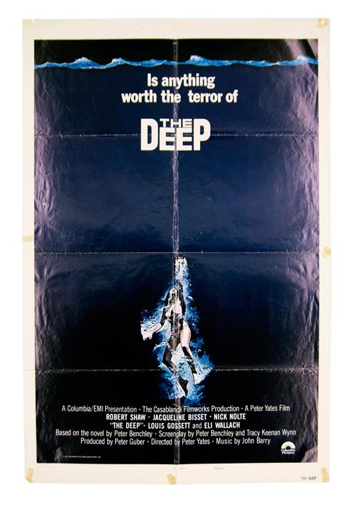 The Deep Peter Yates original film poster