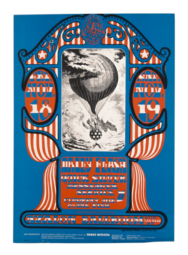 Psychedelic poster 60's Avalon Ballroom