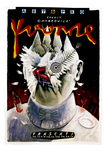 Vintage Frascati affiche art & pro Guy Joosen theater Yvonne