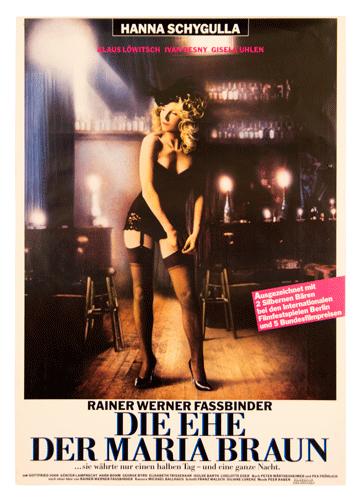 Die ehe der Maria Braun original poster Fassbinder