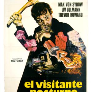 Original Spanish poster The night visitor vintage Cine Qua Non