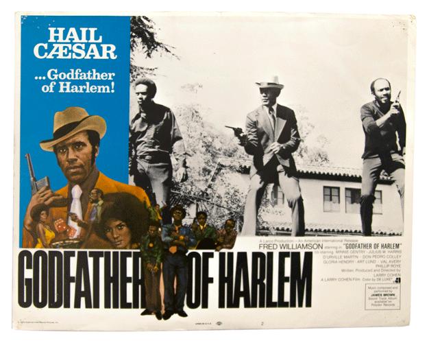 Original lobbycard Blaxploitation Godfather of Harlem