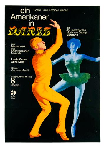 An American in Paris original German filmposter movie poster Cine Qua Non