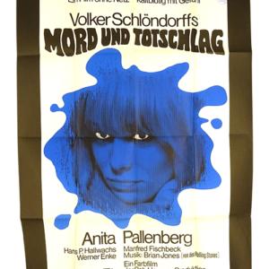 Original german poster Mord und Totschlag Anita Pallenberg Brian Jones