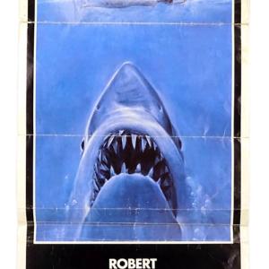 Original film poster of classic movie 'Jaws'