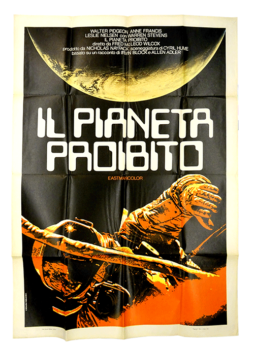 Original filmposter The Forbidden Planet