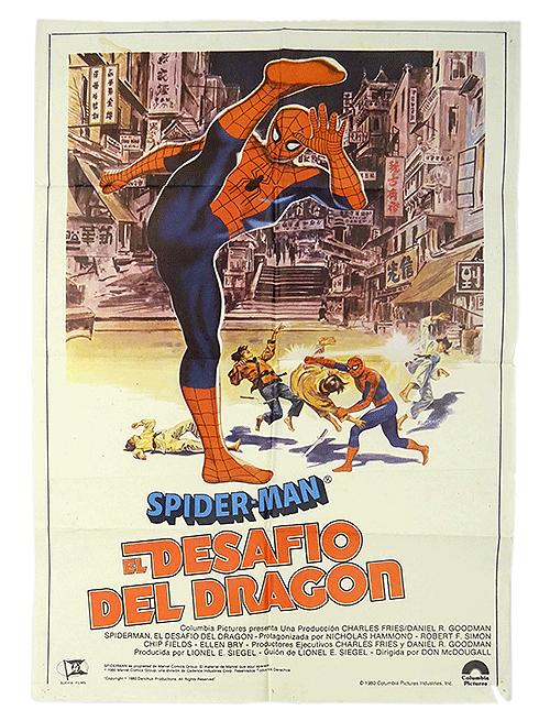 Original Spanish Spider-man poster: The Dragon's challenge