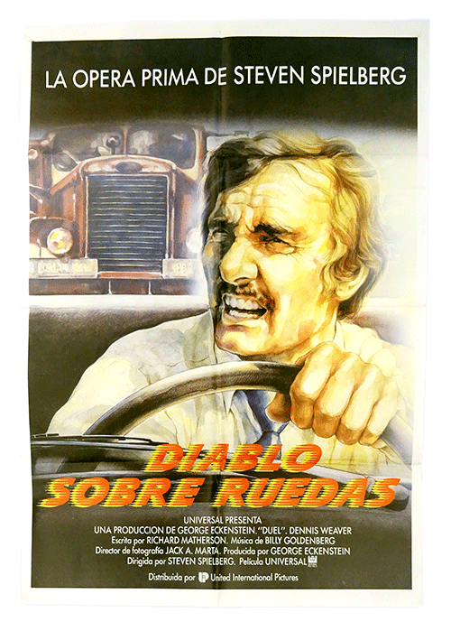 Spanish film poster Duel by Steven Spielberg