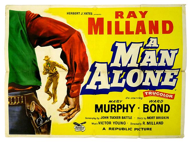 A Man Alone poster