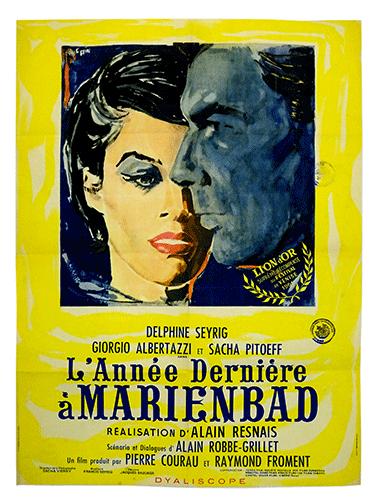 LAnnee Dernier a Marienbad poster