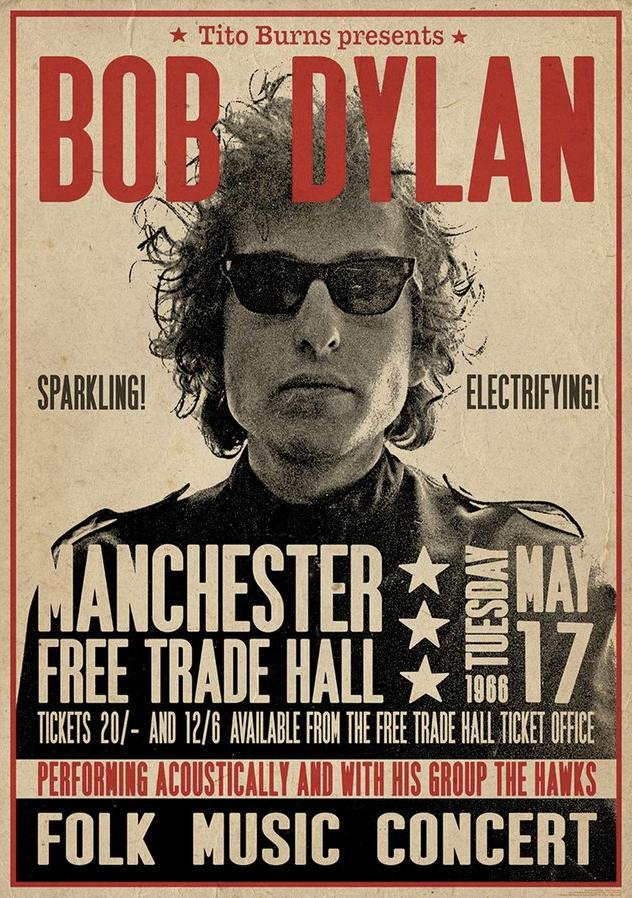 Poster Bob Dylan Manchester
